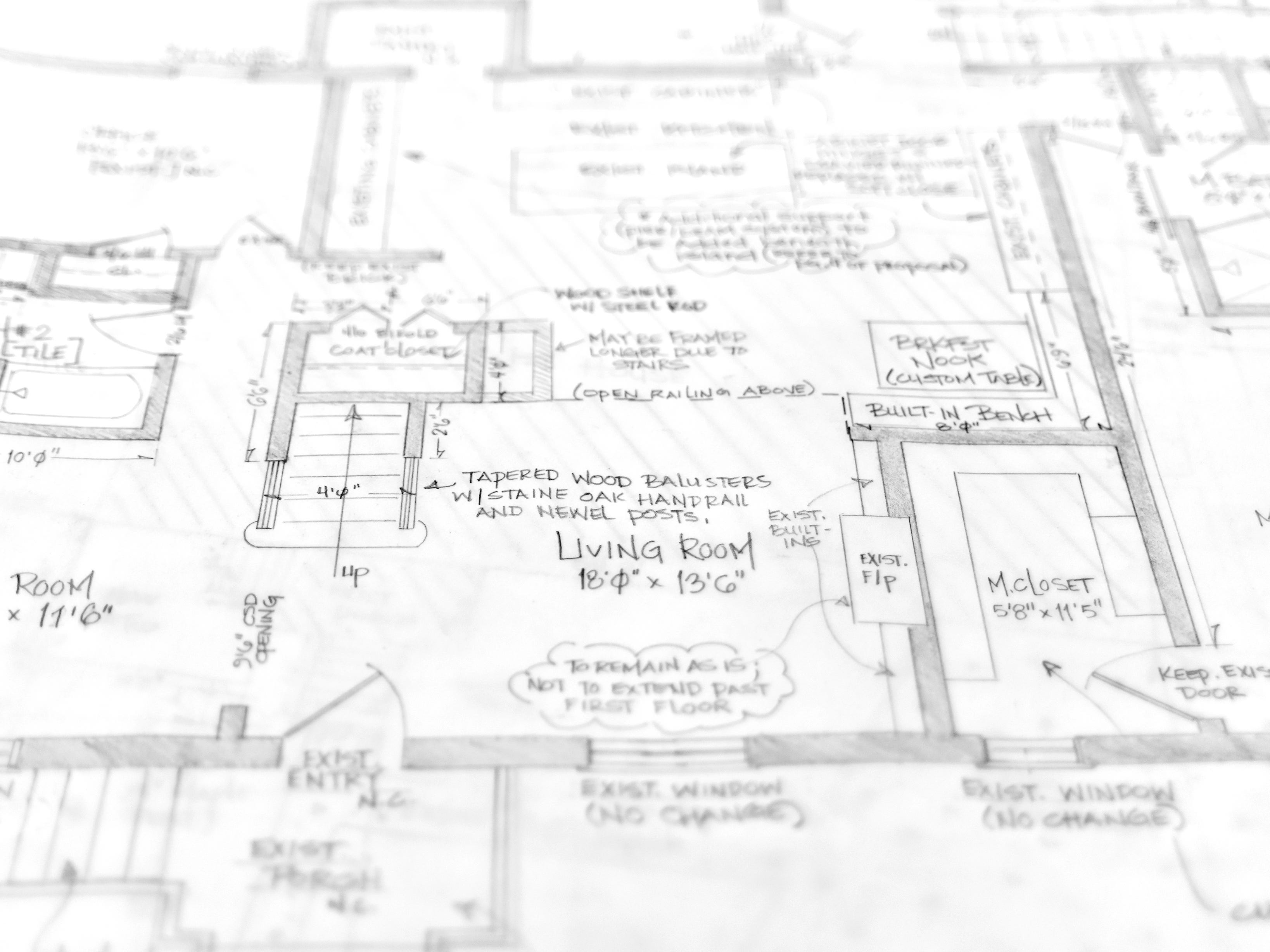 Floor plans designed by Lenzi Waits at Design for Downtown.