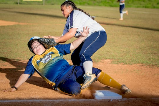 The IIAAG Girls Softball championship Softball match between Academy of Our Lady of Guam and Guam High was held at the Okkodo High School on March 18.