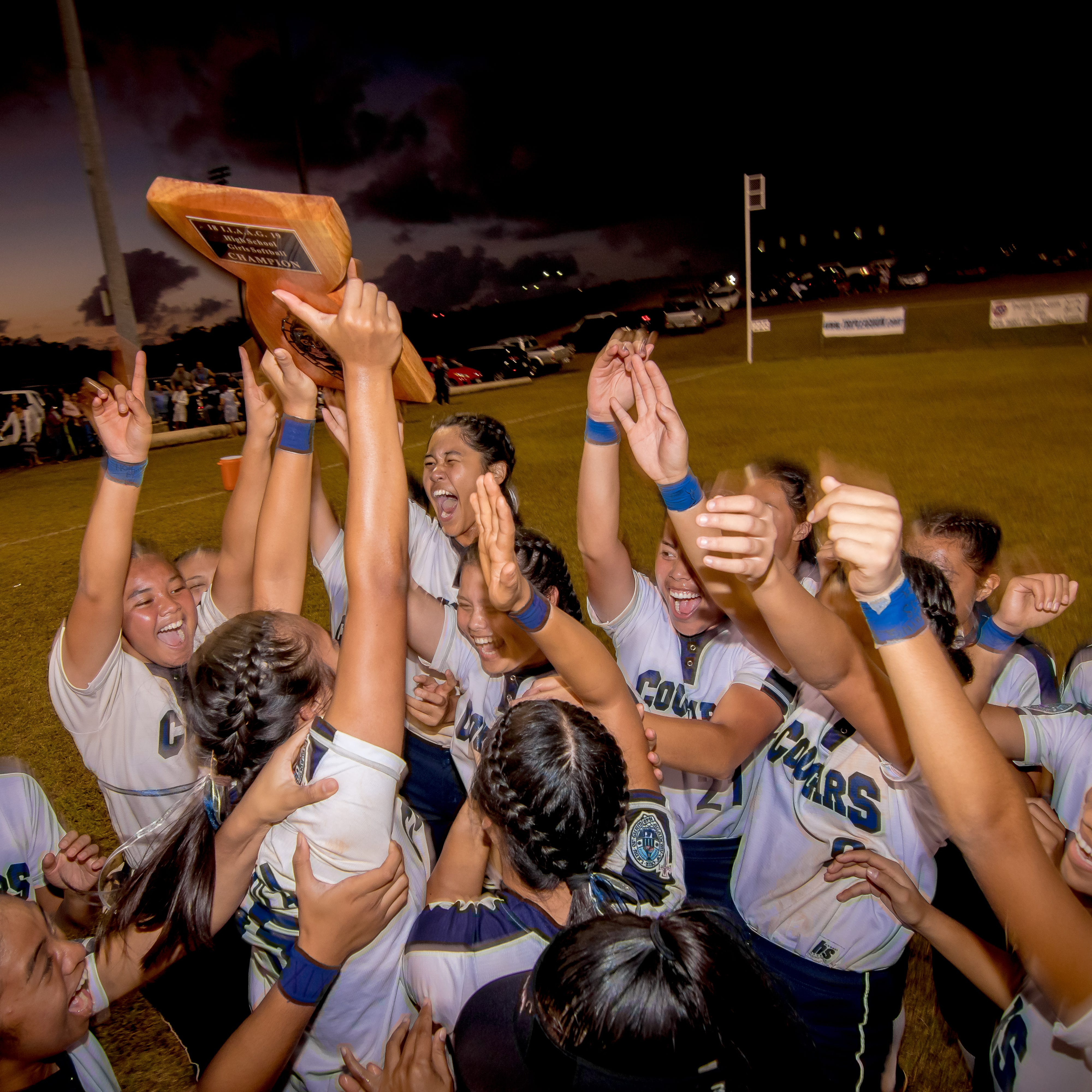 Cougars beat Guam High 11-2 to win softball title