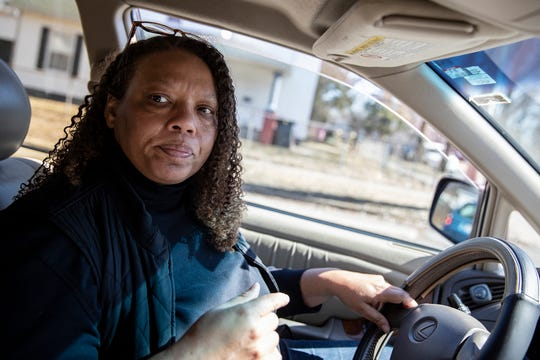 Regina Williams-Preston, a City Council member who represents a predominantly African-American area on the northwest side of South Bend, drives through her neighborhood on Tuesday, March 12, 2019.