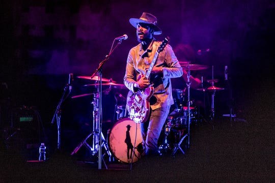 Grammy Award winner Gary Clark Jr. performs at the Old National Center in Indianapolis, on Monday, March 18, 2019.