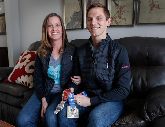 Kevin Koke is running his second Boston Marathon in hopes of raising money for the Caroline Symmes Endowment fund. His wife Laura, a nurse at Center for at the Pediatric Cancer & Blood Diseases Department at Riley at IU Health, took care of Caroline Symmes in 2009 when she was a patient there.