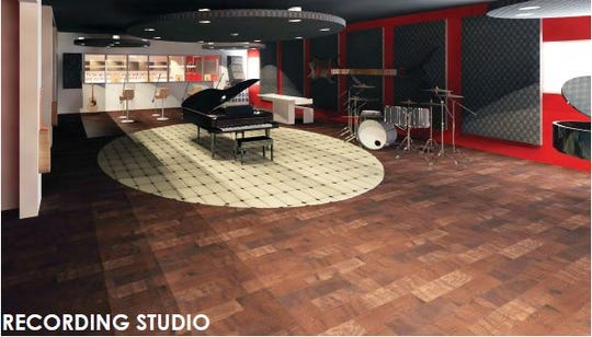 Indiana Black Expo's new building will have a recording studio for music production classes, as shown in this rendering.
