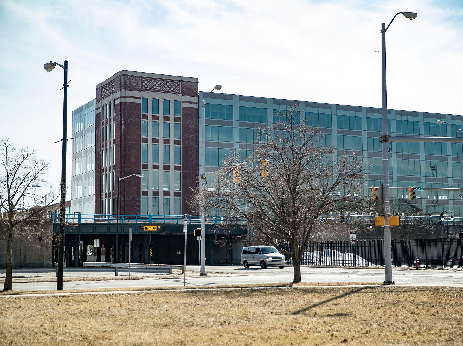 The former Studebaker plant is seen in South Bend, Ind. on Tuesday, March 12, 2019. The car manufacturer shrunk over time and finally closed in 1963, ultimately eliminating roughly 24,000 jobs. Between the early 1960s and 2011, South Bend's population decreased by 25 percent.
