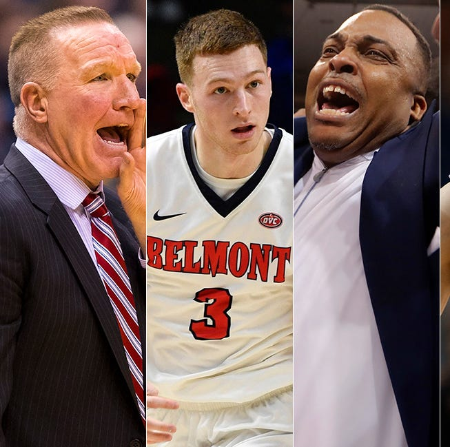 Left to right: Chris Mullin, Dylan Windler, Ron Hunter and Kyle Guy.