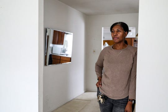 """Stacey Odom, a fourth-generation resident of west-side South Bend neighborhood LaSalle Park, poses for a picture on Wednesday, March 13, 2019. When Odom asked Mayor Pete Buttigieg for $300,000 for a grant program to help community members repair their homes, Buttigieg countered with $650,000, which became the Home Repair Pilot Program. """"ThatÕs the kind of person you want in office,"""" she said. """"Someone who is looking at your best interests. And if theyÕre not, if you go to them and tell them what your interests are, then they will take your concerns and make them their concerns."""""""