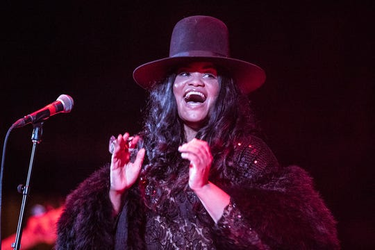 Queen of Austin Soul, Tameca Jones, opens for Grammy Award winner and fellow Texas native Gary Clark Jr., at the Old National Center in Indianapolis, on Monday, March 18, 2019.