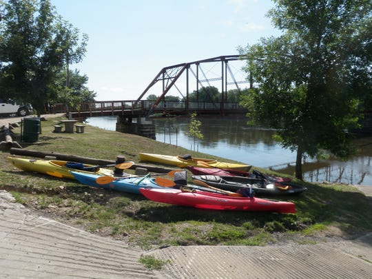 Sutliff Access bridge is a popular location for people who kayak, bike or just want a view of the Cedar River.