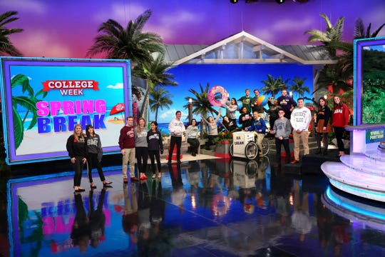 """Wheel of Fortune's"" College Week Spring Break features college students from around the country."
