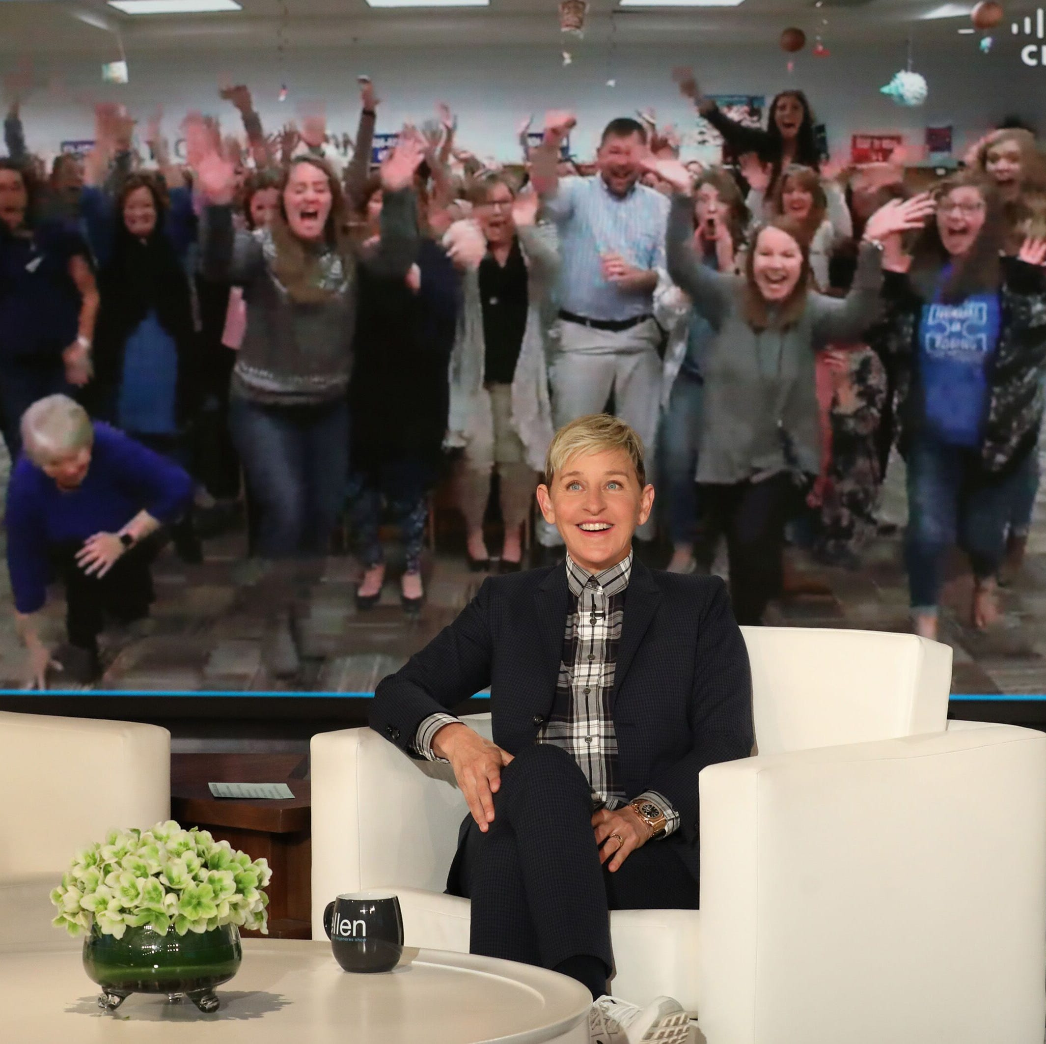 Gibbs Elementary teachers get a tasty surprise from 'Ellen' - and some cash