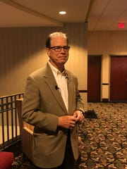 Sen. Mike Braun and Rep. Jim Baird stopped in Lafayette on Tuesday to discuss their legislative goals with constituents, meeting with business leaders as well.