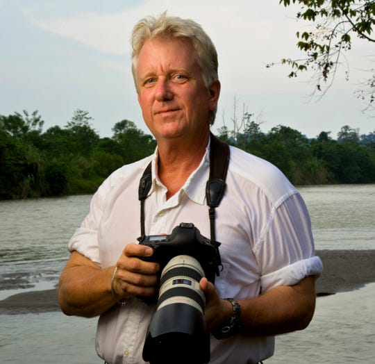 Steve Winter, a National Geographic wildlife photographer with a specific focus on big cats, will have a show April 13.
