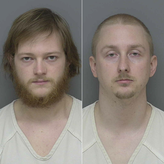 Clifford Fouts (left) and Stephen Deshon (right) have been charged with possession of child sexually abusive material.