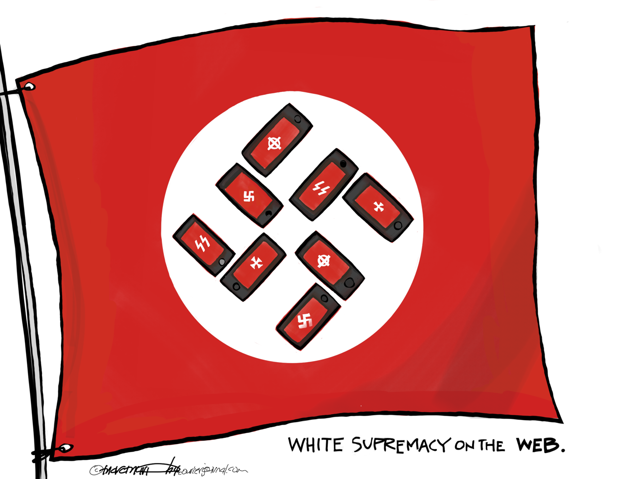 White supremacy on the web