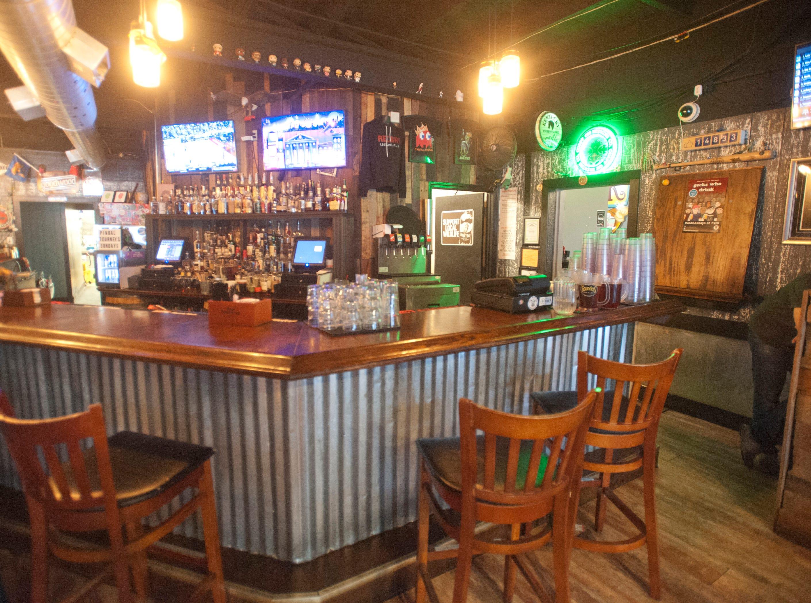 The bar area of the Recbar.14 March 2019