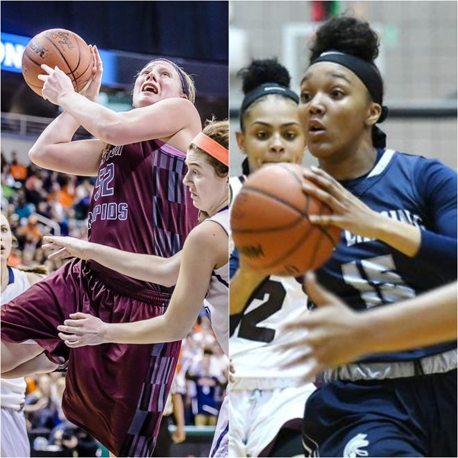 Eaton Rapids' Allie Dittmer and East Lansing's Jaida Hampton are the final two players alive in fan voting to determine the best girls player of the 2010s.