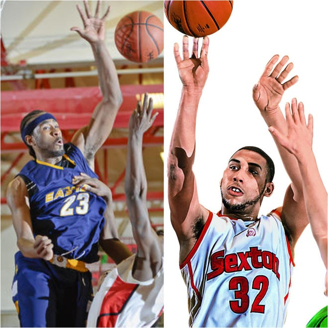 Eastern's LaDontae Henton, left, and Sexton's Denzel Valentine were two of the area's top basketball players of the 2010s.
