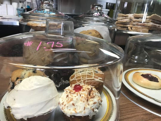Homemade desserts at the Covered Wagon.