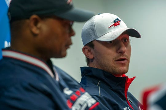Memphis Express quarterback Johnny Manziel and head coach Mike Singletary spoke with the media on Tuesday.