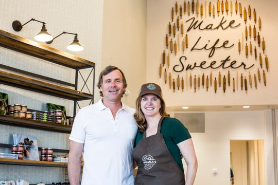 March 15, 2019 - Owners Tommy and Lauren Young at Sweet LaLa's Bakery located at the Regalia Shopping Center.  Sweet LaLa's Bakery is having its grand opening on March 21st.