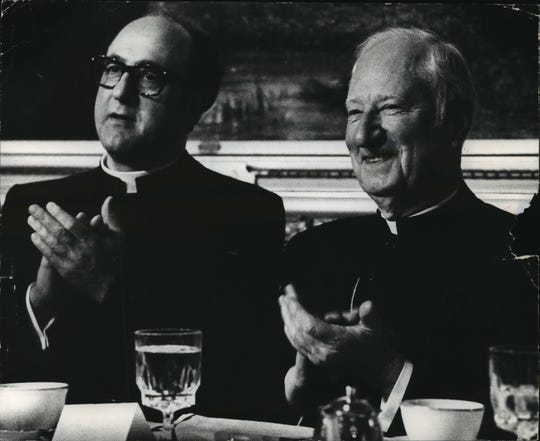 Archbishop Rembert Weakland and William Cousins, shown in 1980.