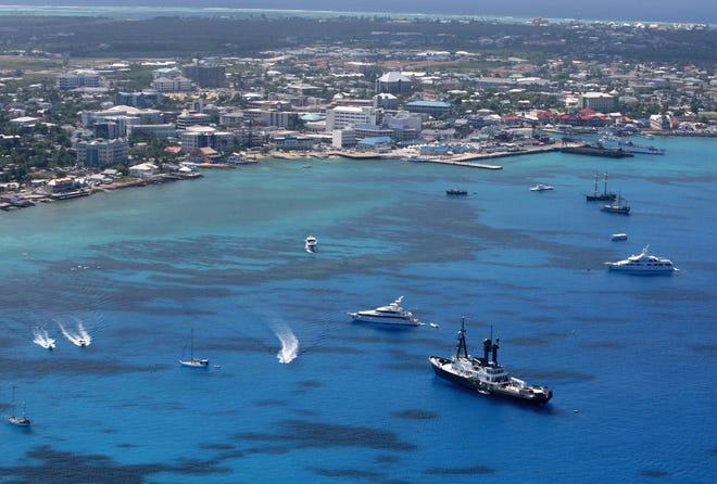 George Town pictured  in Grand Cayman, Cayman Islands.