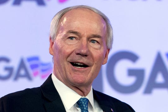 In this file photo, Arkansas Gov. Asa Hutchinson speaks at the National Governor Association 2018 winter meeting in Washington.
