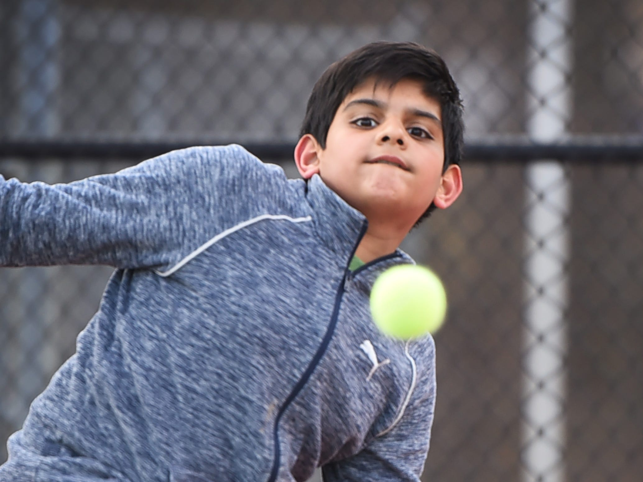 Morris Hills freshman Siddhant Desai of Morris Plains plays during a practice, photographed at Morris Hills High School in Rockaway on 03/19/19. This is for the season preview on team diversity.