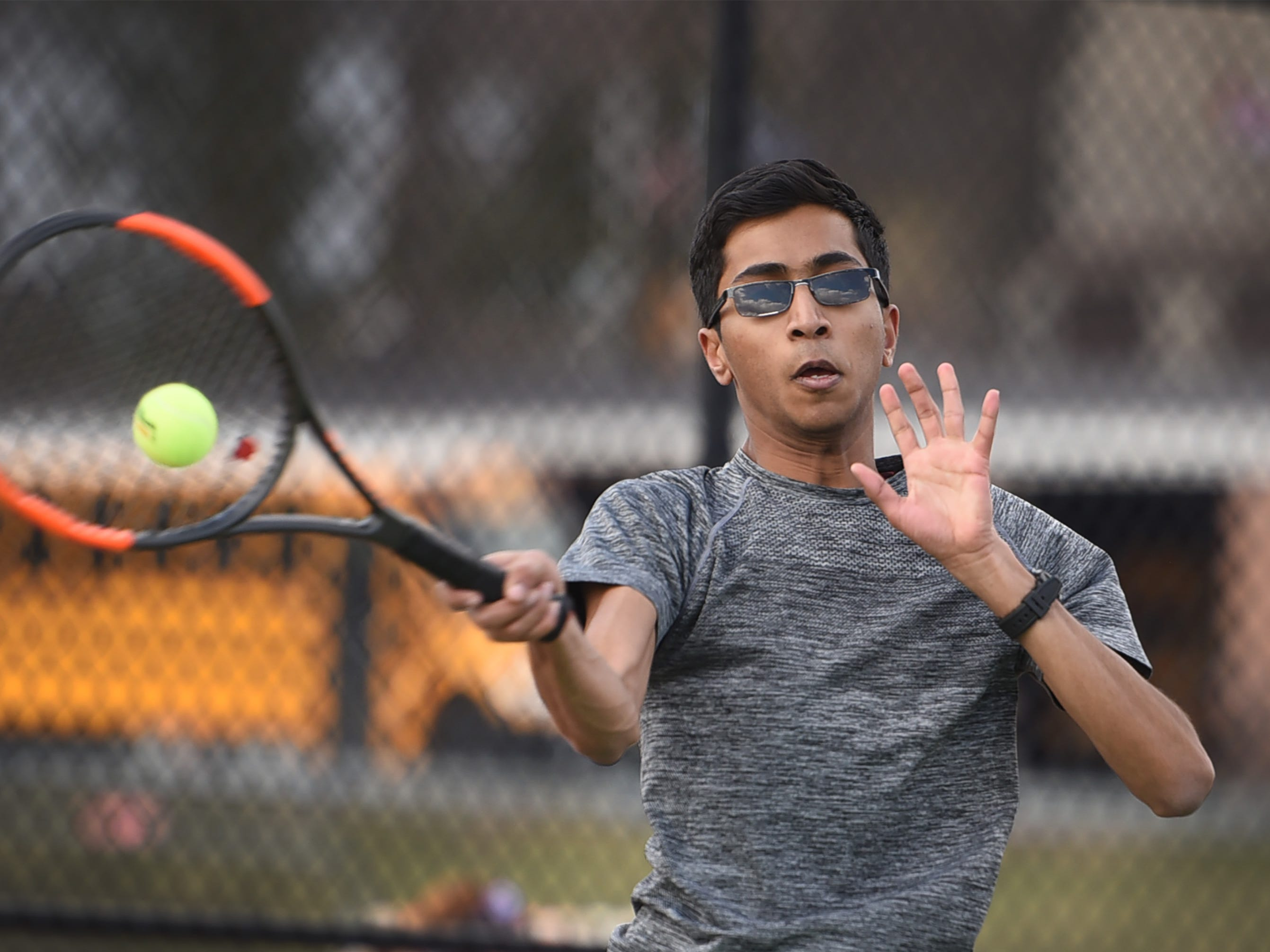 Morris Hills sophomore Charan Kanna of Montville plays during a practice, photographed at Morris Hills High School in Rockaway on 03/19/19. This is for the season preview on team diversity.