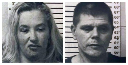 "Arrest mugshots of June ""Mama June"" Shannon and Eugene Doak."