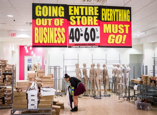 Charlotte Russe holds a store closing sale at the Muncie Mall.