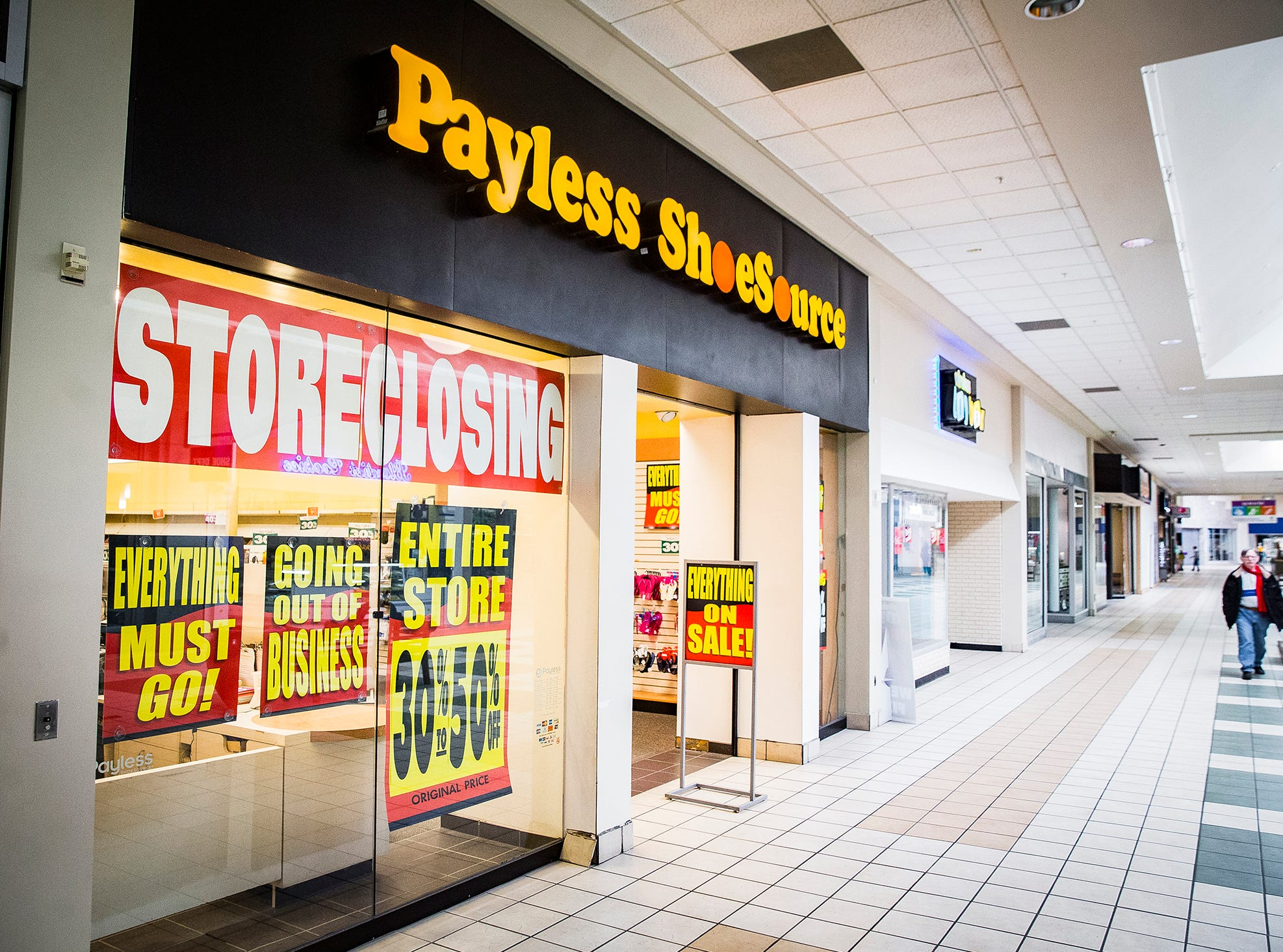 Payless Shoe Store holds a store closing sale at the Muncie Mall.