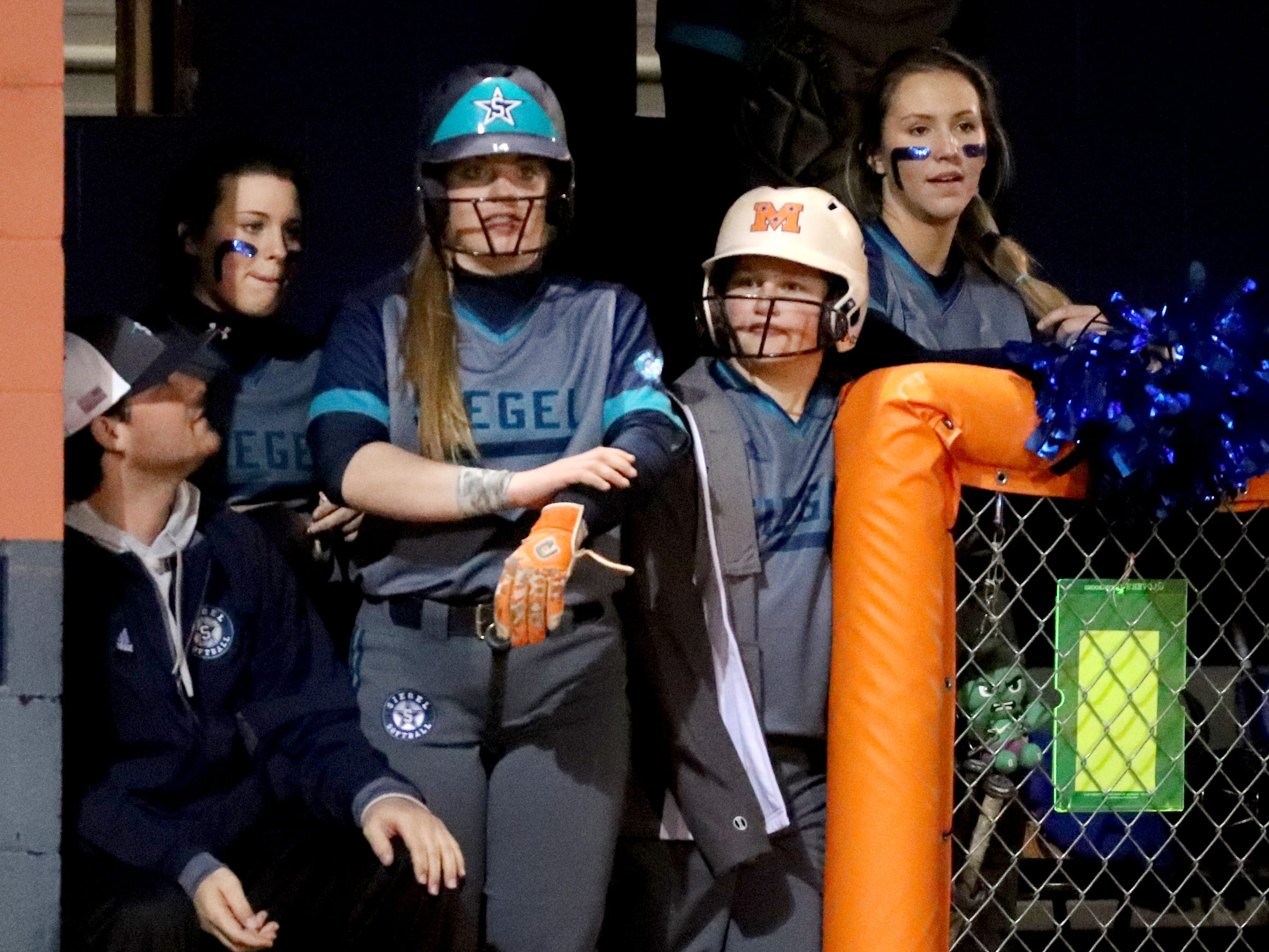 Siegel's Claire Czajkowski (14) gets ready to bat during the game against Blackman, on Monday, March 18, 2019, at Blackman.