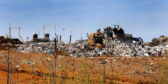 The Middle Point Landfill in Rutherford County, shown here in 2016, receives 4,000 tons of waste a day.