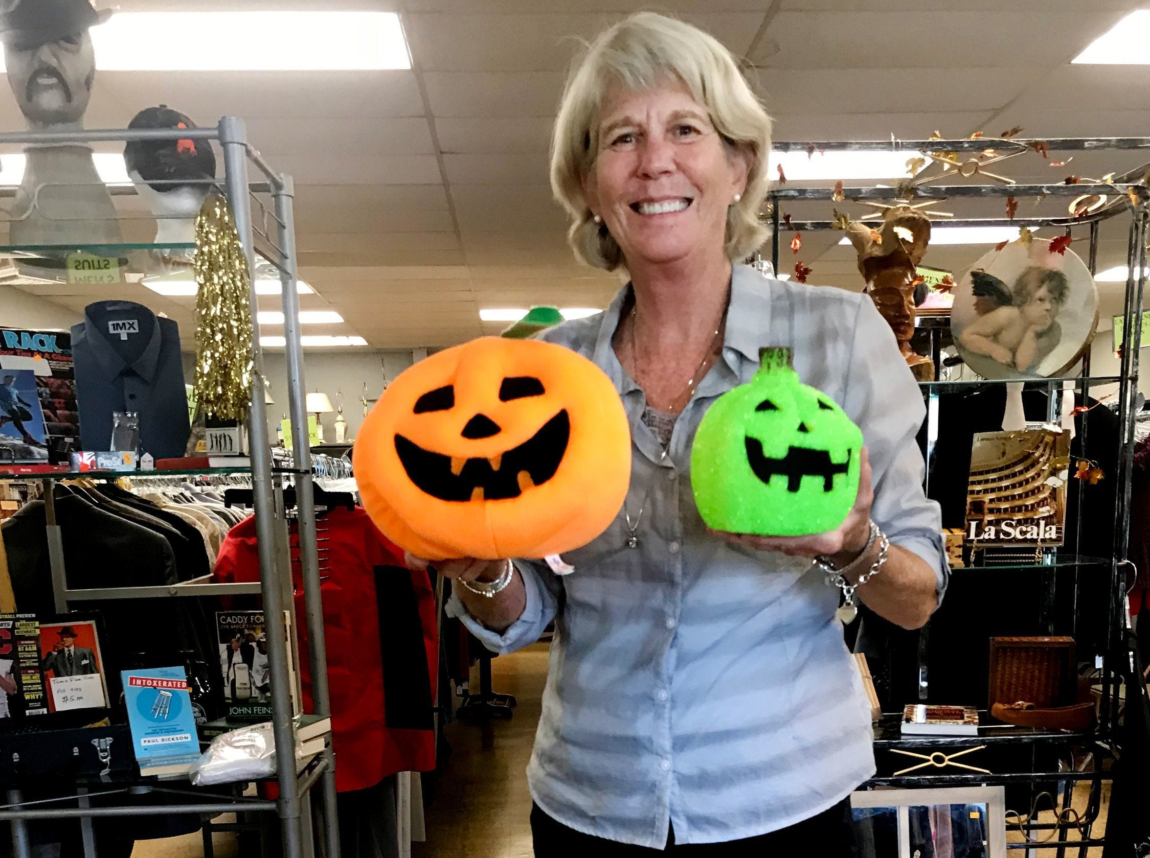 Mary Hance's Ms. Cheap, here Oct. 10, 2018, is ready to give tips that will make Halloween a much less scary shopping experience.