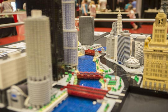 Rocco Buttliere, who created this depiction of Chicago, will bring more than 50 Lego models of famous landmarks to a Lego convention in Wilson County on March 30-31.