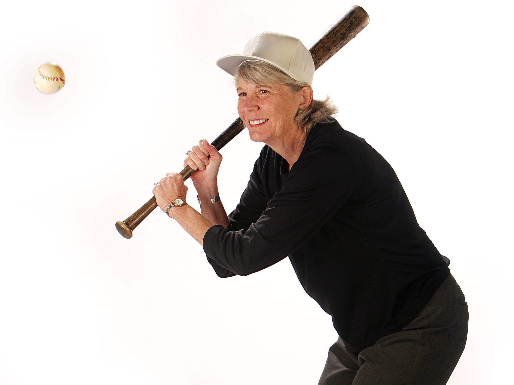 Mary Hance, aka Ms. Cheap, get ready for free baseball in the studio Feb. 18, 2010.
