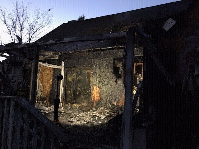 This home was damaged from a fire in Rutherford County on March 19, 2019.