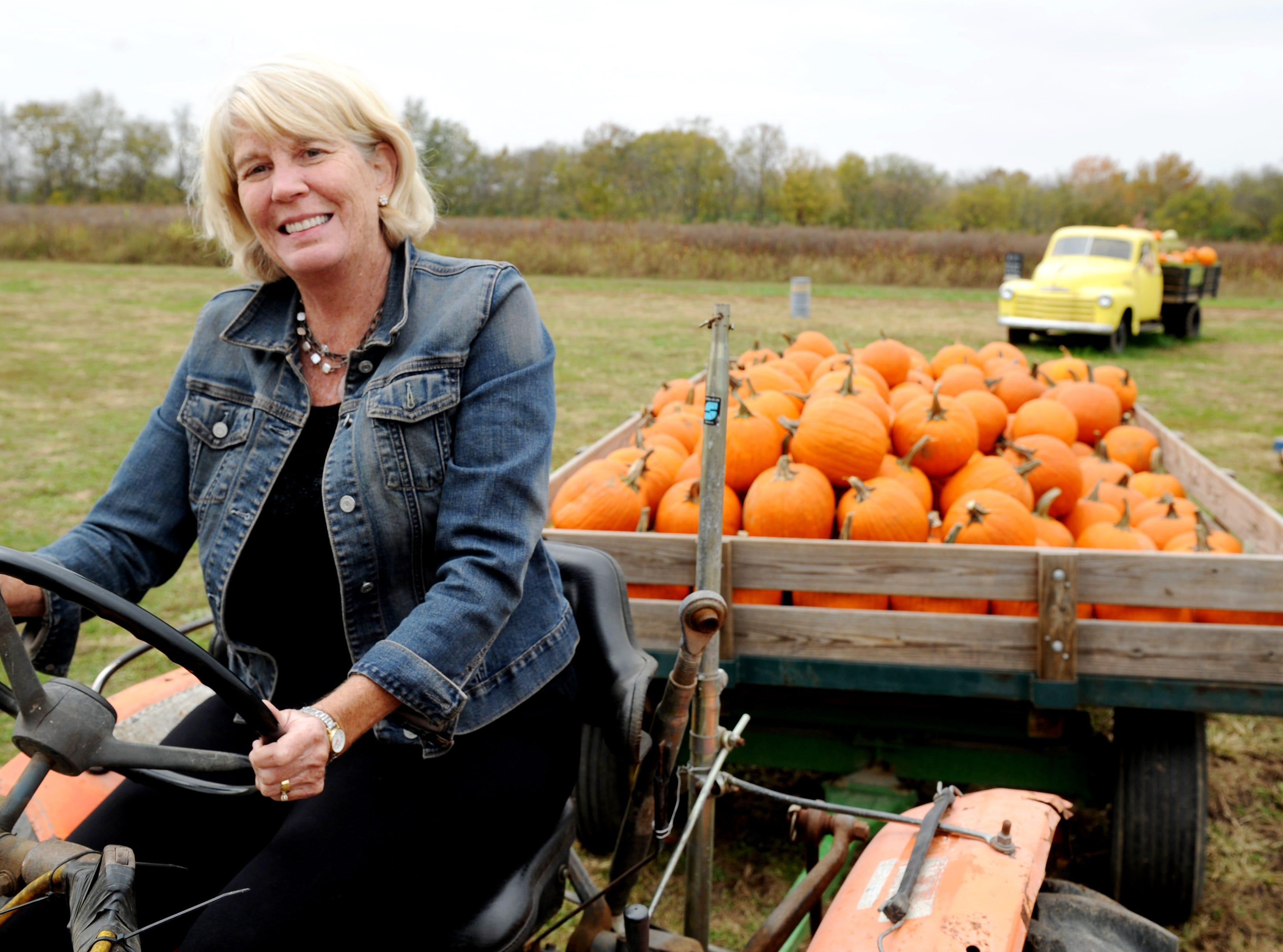 Ms. Cheap's Mary Hance poses at the Gentry Farm on Oct. 22, 2012, for the cover of her fall preview.