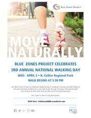National Walking Day is Wednesday, April 3, 2019