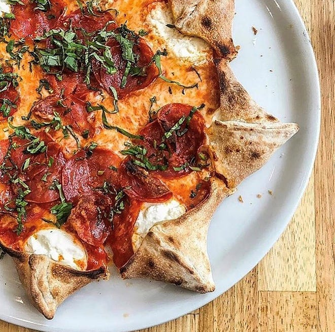 Novelty star-shaped pizzas are top sellers for Mister O1 Extraordinary Pizza because their eight points – created by making cuts at the edge of the pie and folding the flaps over to create a crust with eight pockets – are filled with ricotta cheese.