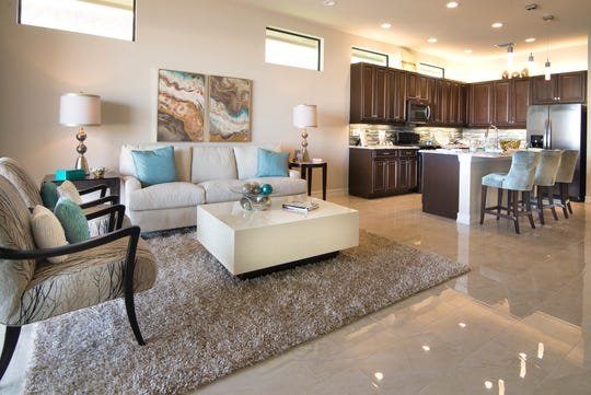The homes at Venetian Pointe range in size from 1,500 to almost 3,000 square feet under air.