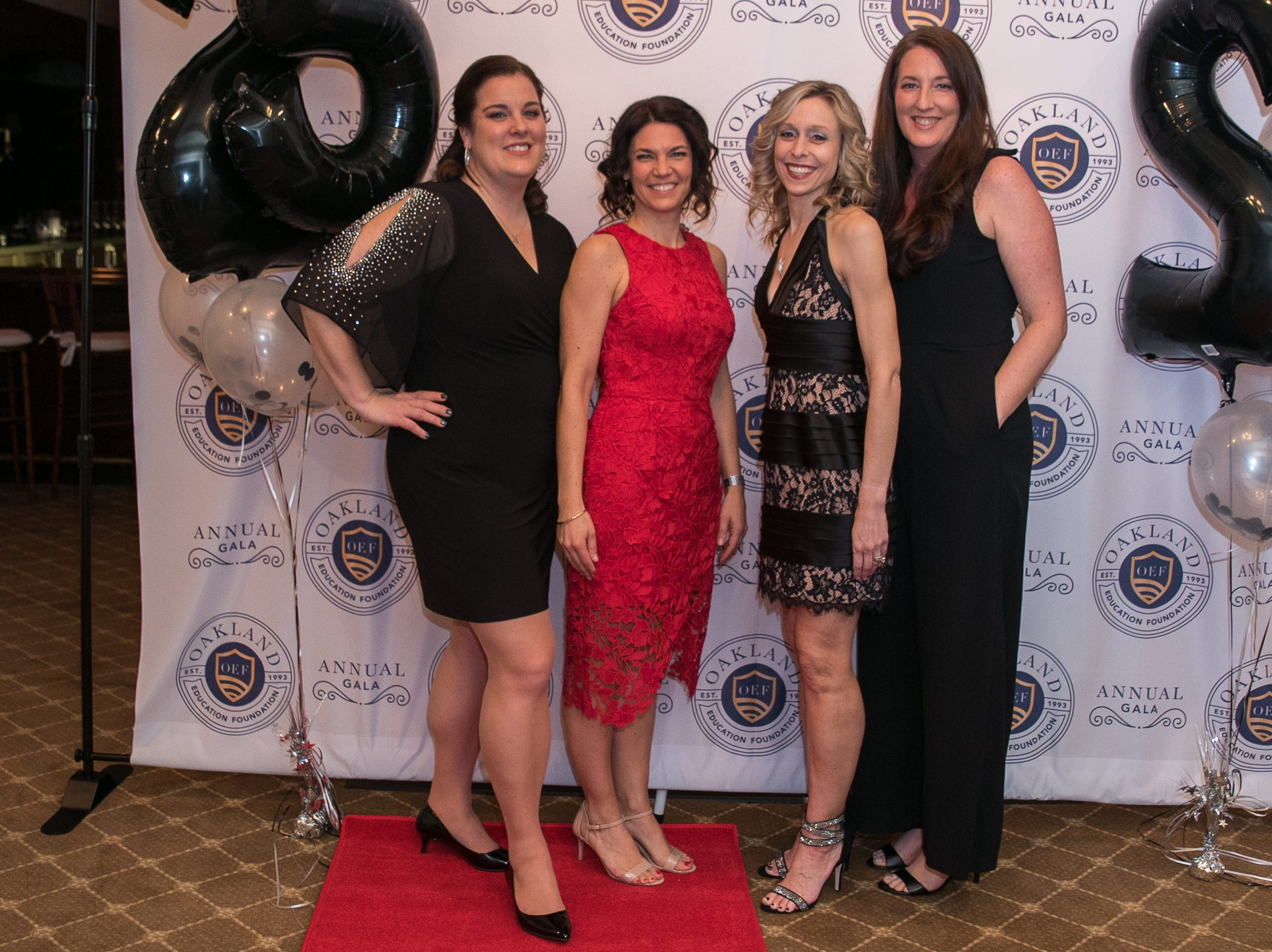 Melissa, Jen, Lara, Kerry. The Oakland Education Foundation held their 25th Anniversary Casino Night Gala at Preakness Hills Country Club in Wayne. 03/16/2019