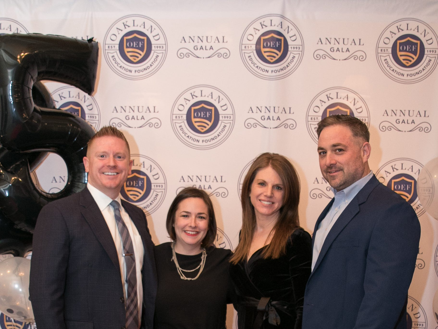 Jay and Jessica Stroud with Stacie and Brian Mayack. The Oakland Education Foundation held their 25th Anniversary Casino Night Gala at Preakness Hills Country Club in Wayne. 03/16/2019