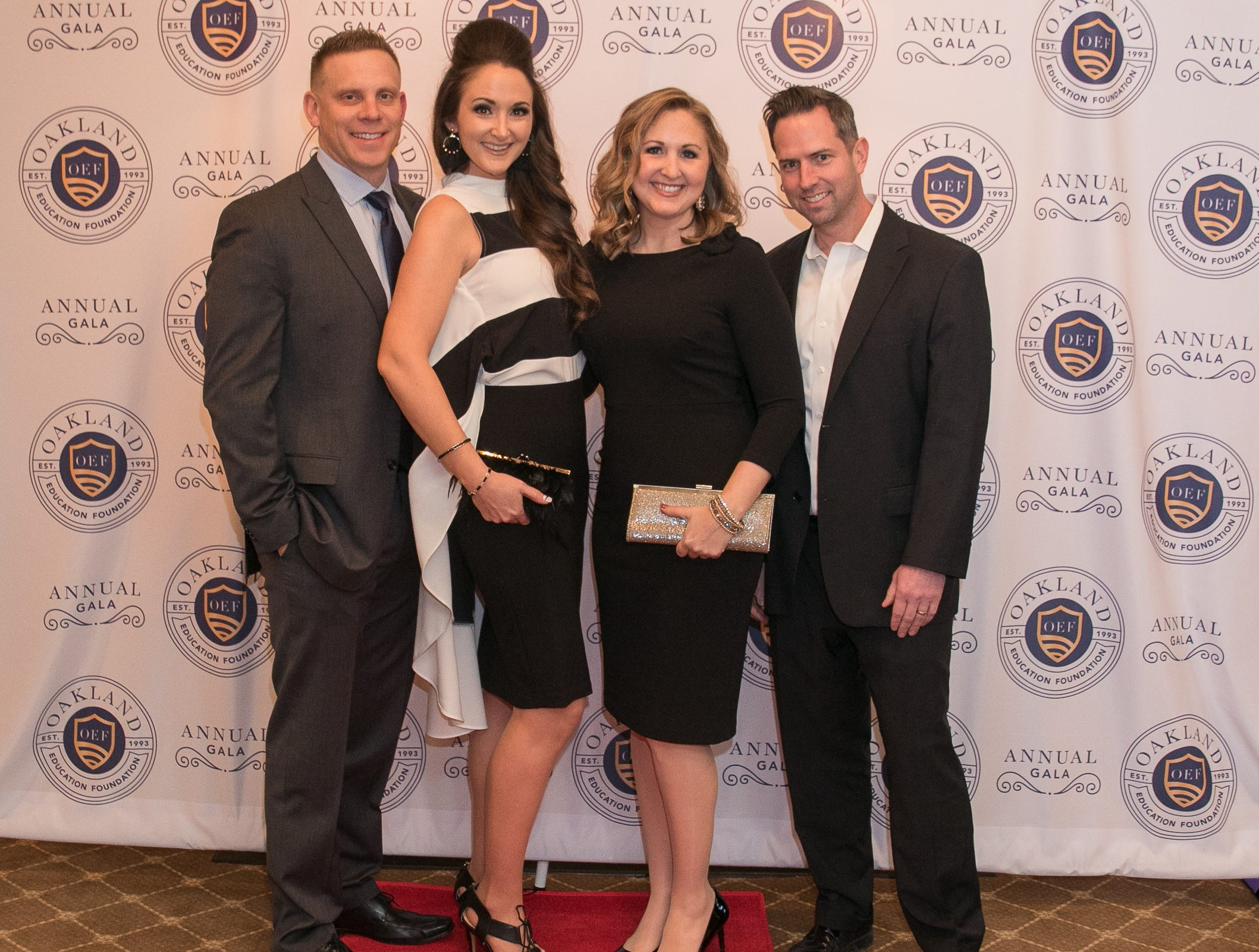 Sean and Shannon Kennedy with Alyson and Jon Dietrich. The Oakland Education Foundation held their 25th Anniversary Casino Night Gala at Preakness Hills Country Club in Wayne. 03/16/2019
