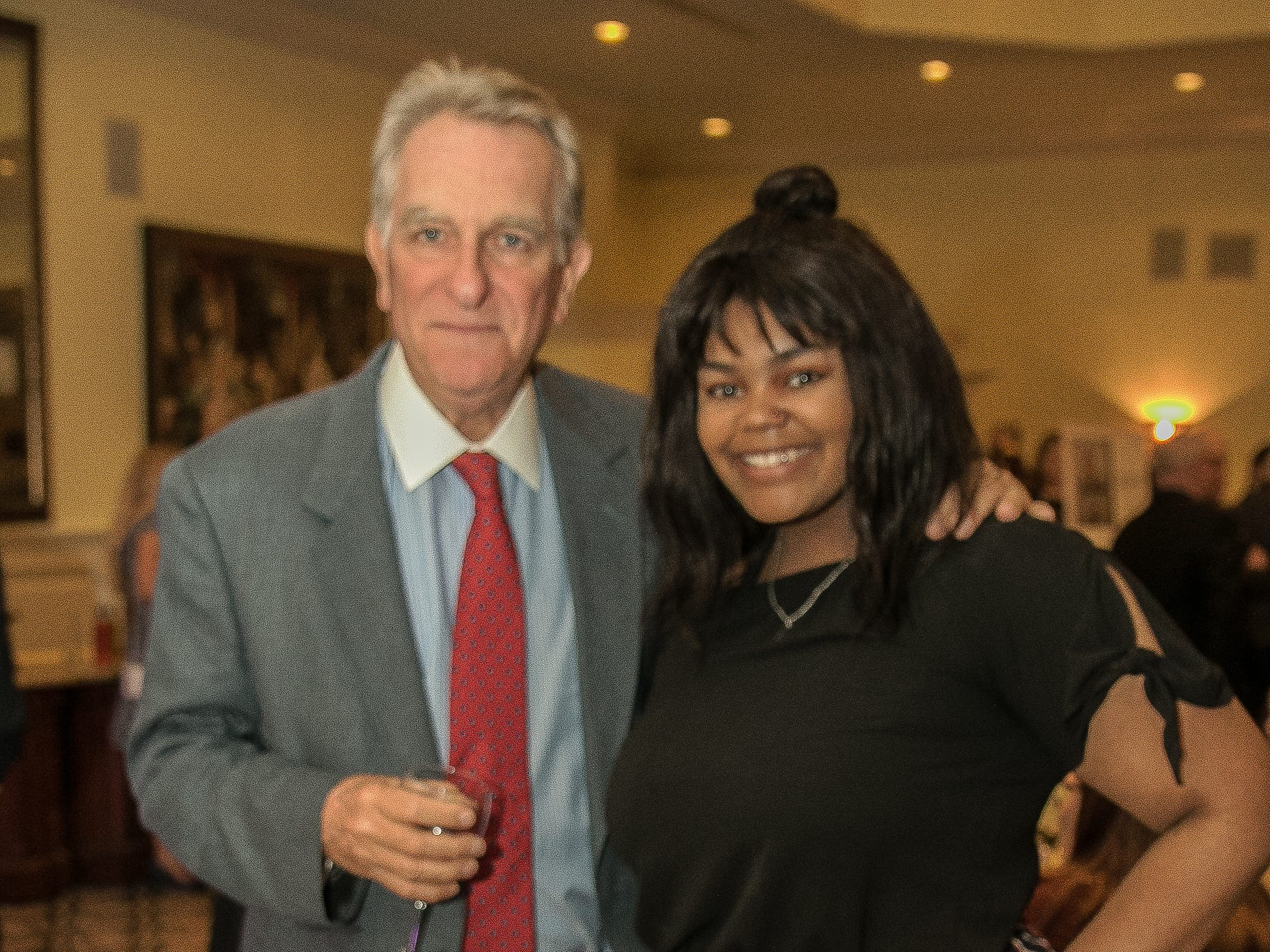 Mike Walsh- Board President, Briana Brown. The Emmanuel Cancer Foundation 9th Annual Bash at The Brick House. 03/15/2019