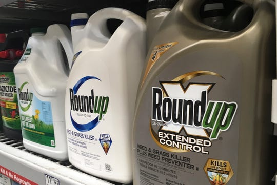 In this file photo, containers of Roundup are displayed on a store shelf in San Francisco. A jury in federal court in San Francisco has concluded that Roundup weed killer was a substantial factor in a California man's cancer.