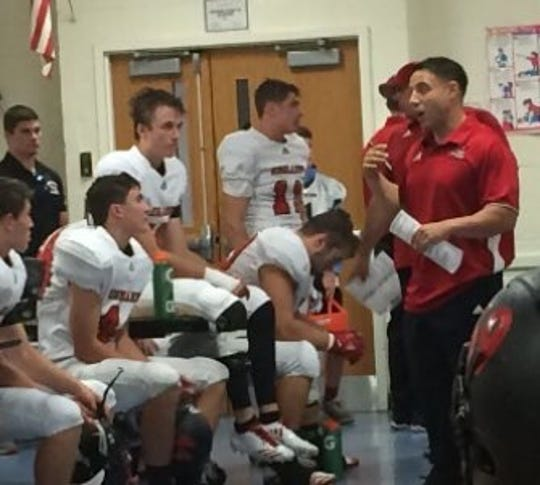 Greg Russo, right, has been named new head football coach at Northern Highlands.