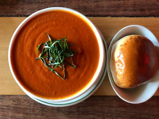 Creamy, dreamy tomato soup at the Farmhouse Cafe and Eatery in Westwood -- on a Westwood Food Crawl
