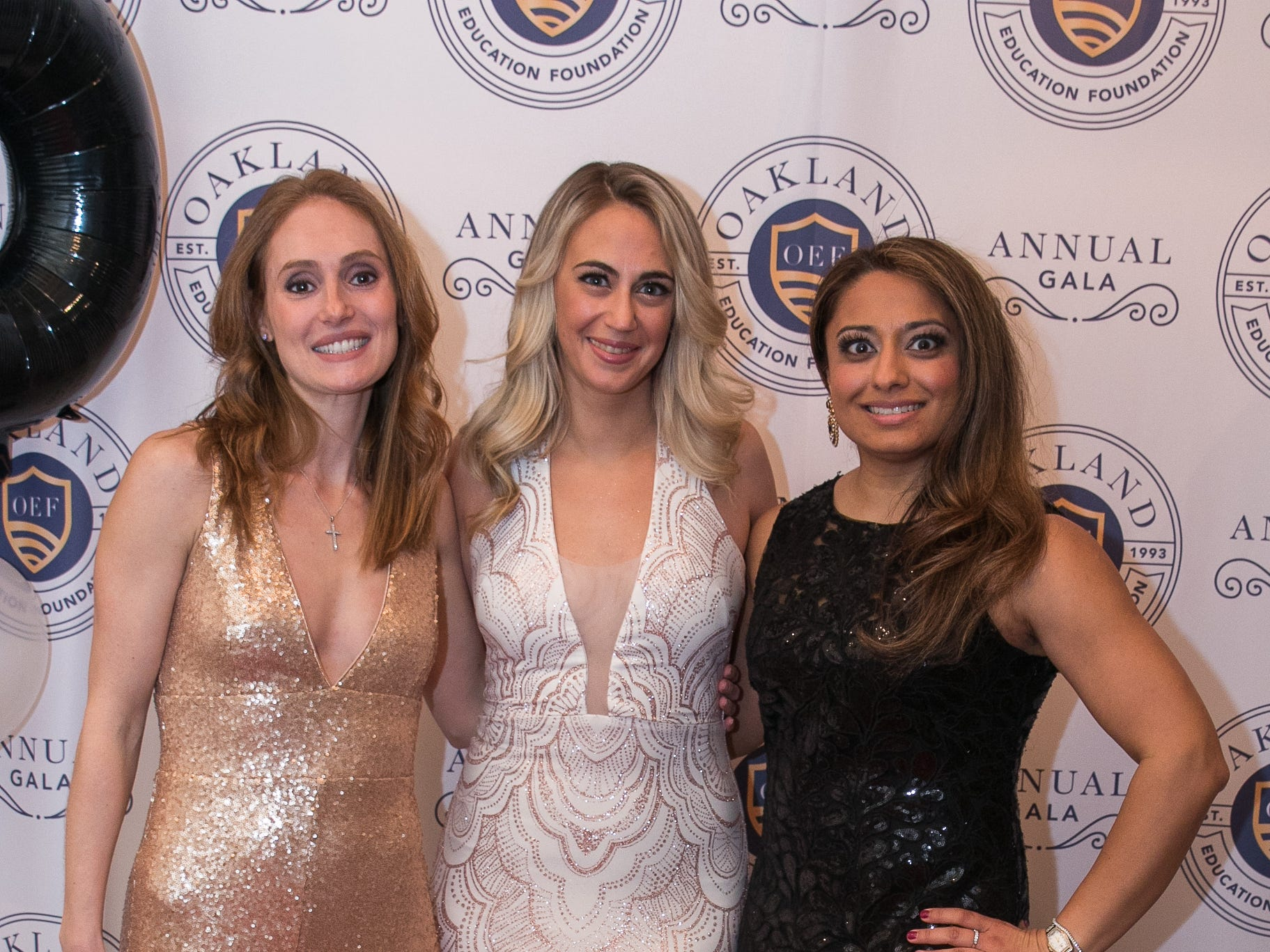 Jacki Wall, Katrina Larsen, Mina Patel. The Oakland Education Foundation held their 25th Anniversary Casino Night Gala at Preakness Hills Country Club in Wayne. 03/16/2019